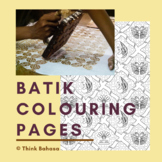 Batik Colouring Pages (Batik Printable Patterns)