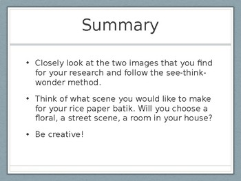 Batik on Rice Paper PowerPoint