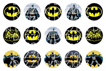 Batman - 1 Inch Circle - Bottle Cap Image - Bingo Chips -