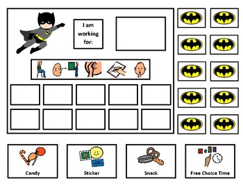 Batman 10 Token Board with Behavior Visuals