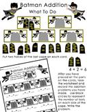 Math Center - Batman Addition - Sums to 10