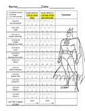 Batman Behavior Point Sheet