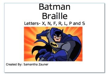 Batman Braille File Folder Game