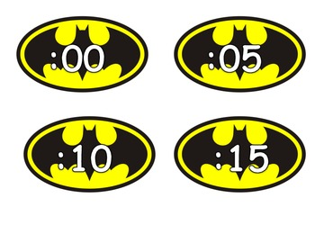 Batman Clock Numbers
