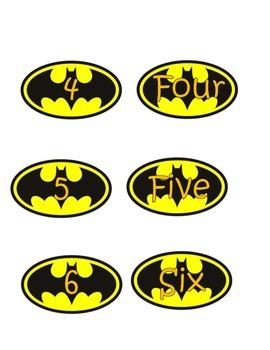 Batman Number Match 0-20