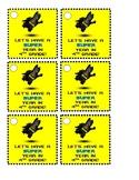 Batman Pencil Tags - CUSTOM Orders Accepted