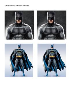 Batman Positive Behavior Plan - Stay in Area, Follow Directions, Safe, & Nice