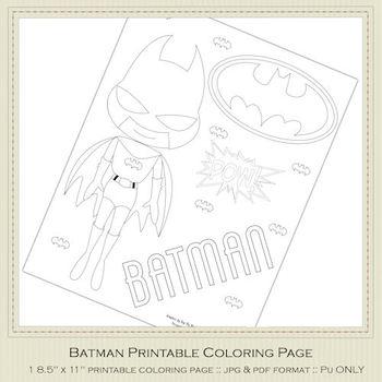 Batman Printable Coloring Page 1