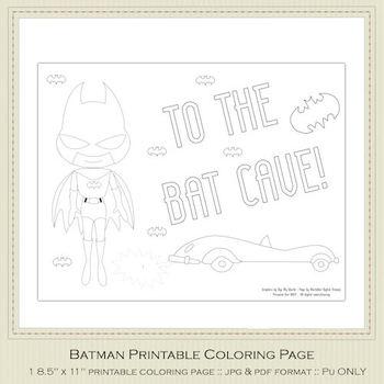 Batman Printable Coloring Page 2