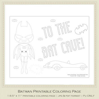 Batman Printable Coloring Page 2
