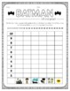 Batman Inspired Roll and Graph Activity and Data Sheets