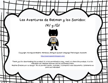 Superhero Spanish Articulation /k/ and /g/