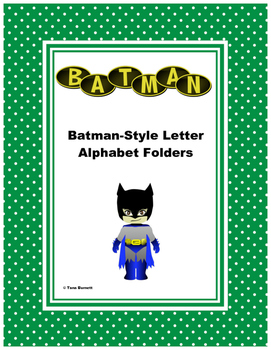 Batman Style Letter Alphabet Folders