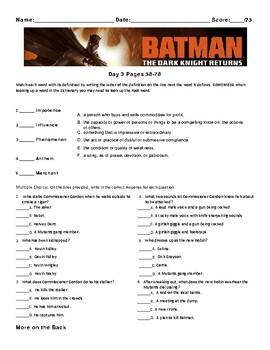 Batman: The Dark Knight Returns By Frank Miller, Issue #2 Worksheets/Assessments