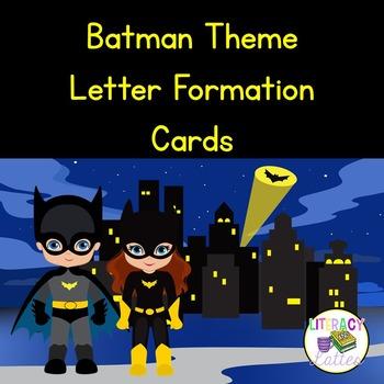 Batman Theme Letter Cards