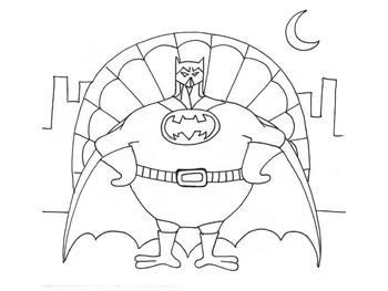 Batman Turkey Coloring Page