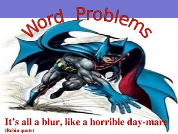 Batman Word Problems