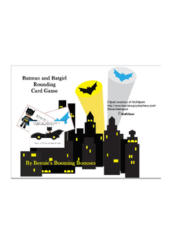 Batman and Batgirl Rounding Card Game