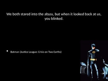 Batman or Shakespeare Quiz