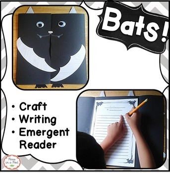 Bats Halloween Craft ~ kindergarten, first grade, second, third ~ Stellaluna