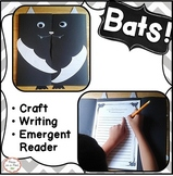 Bats Halloween Writing and Stellaluna Craft first, second, third grade