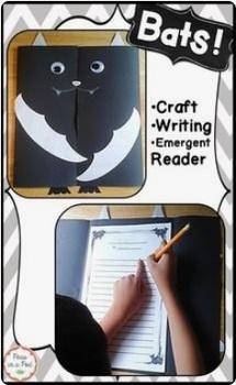 Bats Halloween Writing and Stellaluna Craft first, second ...