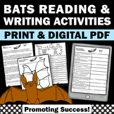 All About Bats Unit, Nonfiction Comprehension Passages for Stellaluna Activities