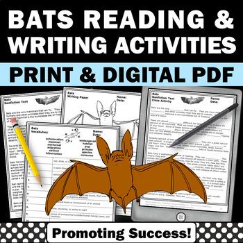 All About Bats Unit, Nonfiction Comprehension Passages for Stellaluna Activities