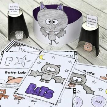 Bat FREEBIES! Bat Themed Math & Literacy Activities