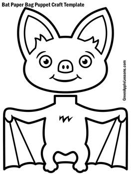 Bats Craft | Bat Activity | Bats Craftivity | Bat Puppet