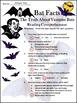 Bats Activities: Bat Facts Halloween Science Activity Packet