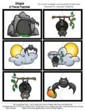 Bats - 2 Piece Puzzles - #60CentFinds - No Frills 1 Page *s