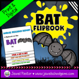 Science Halloween Activities (Bats Research Flipbook)
