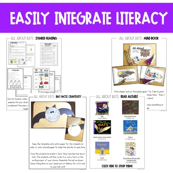 Bats Unit: Life Cycle, Fact Sheets, Interactive Notebook Pages and More!