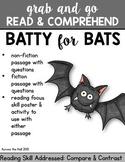 Bats Comprehension Activities
