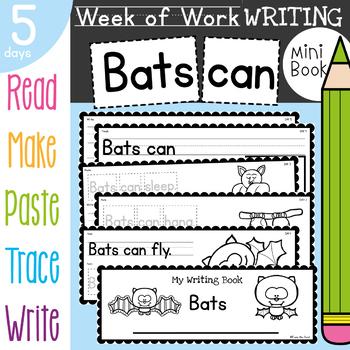 Bats Writing Activities for Kindergarten and First Grade