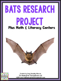Bats:  A Research and Writing Project PLUS Centers!
