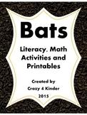 Bats: A Literacy and Math Activity Bundle