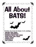 Bats! Bat Activities for Grade 1-5
