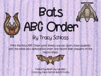 Bats ABC Order,