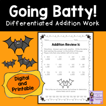 Bats Addition Review Fun