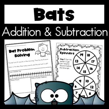 Halloween Math Worksheets - Bats
