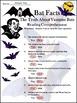 Bats Activities: Bat Facts Halloween Science Activity 2nd & 3rd Grade Bundle