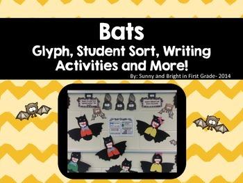 Bats! - Bat Glyph, Student Sort, Main Idea Lesson, Writing