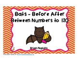 Bats Before After Between Numbers to 120 Task Cards
