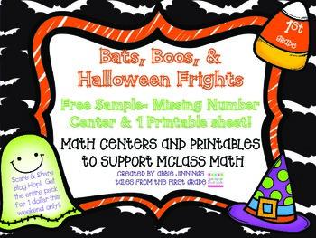 Bats, Boos, and Halloween Frights- Freebie Sample