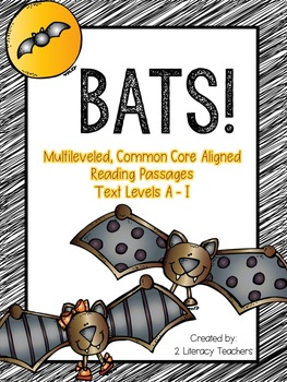 Bats! CCSS Aligned Leveled Reading Passages and Activities
