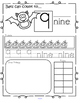 Halloween Bats Number Practice Printables - Recognition, T