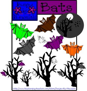 Bats Clip Art {Designs By Nawailohi}