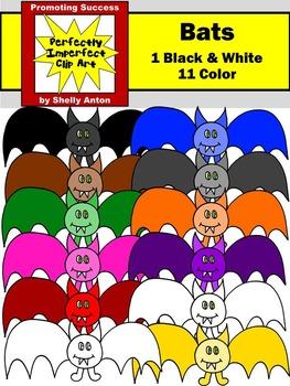 Halloween Clipart Colorful BATS Clip Art Primary Colors Clip Art